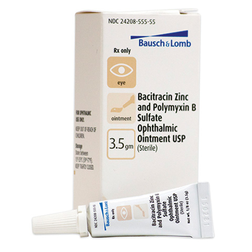 Picture of Bacitracin Zinc & Polymyxin B Sulfate Ophthalmic Ointment 3. 5 gm