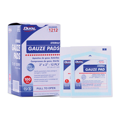 Picture of Gauze Pads-Sterile 2X2 12 Ply Box/100