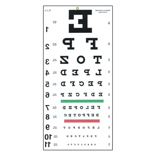 Picture of Reversed Snellen Eye Chart-20 ft