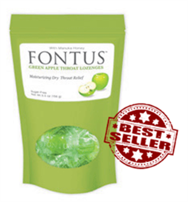 Picture of Fontus Green Apple Throat Lozenges - 20 ct Bag