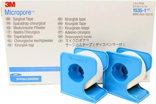 Picture of 3M Micropore Surgical Tape - W/Dispenser 1X10Yrd-Box /12