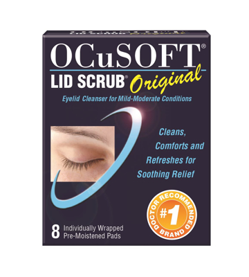 Picture of OCuSOFT Lid Scrub Original Pre-Moistened Pads Trial Pk - 8 ct