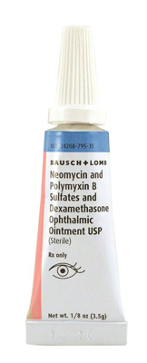 Picture of Neomycin & Poly B Sulfates & Dexamethasone Oint (Rx) 3. 5 gm