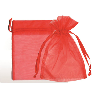 "Picture of Organza Bags 6""X10""- Red 25/Box"