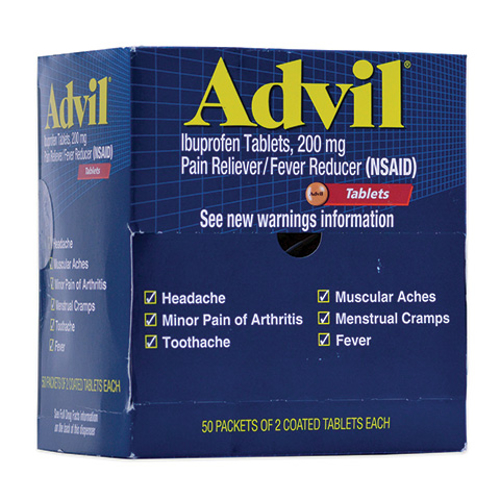 Picture of Advil Tablets - 2/Pk 200 mg Box/50
