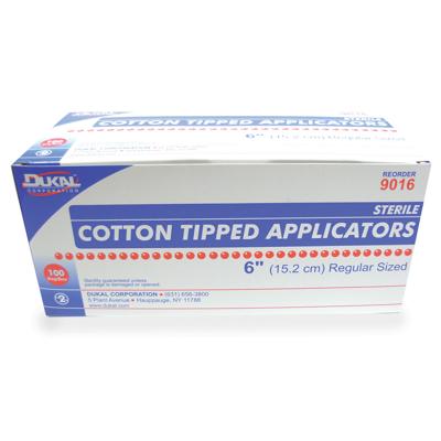 Picture of Cotton Tipped Applicators - Sterile - 2/Pkg - 6In - 100/Box