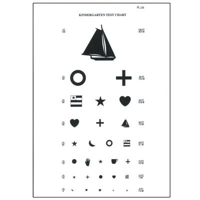 Picture of Kindergarten Eye Chart-10 ft