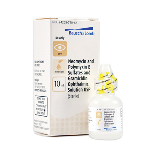 Picture of Neomycin & Polymyxin B Sulfates & Gramicidin (Rx) 10 mL