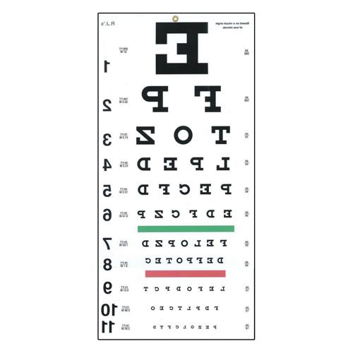 Picture of Reversed Snellen Eye Chart-20 ft
