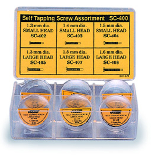 Picture of Self-Tapping Screw Set - Gold And Stainless Steel - 300 Screws - 1 Set