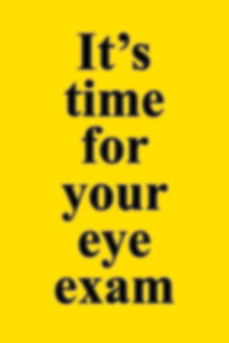 Picture of Eye Exam Reminder Postcard 4X6 50 ct