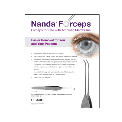 Picture of Outside Rep Samples Nanda Forceps Detail Sheet (Qty 25)