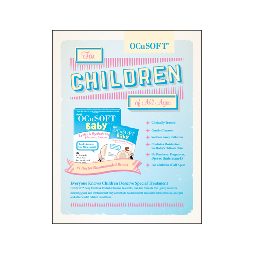 Picture of Outside Rep Samples Ocusoft Baby Detail Sheet (Qty 25)